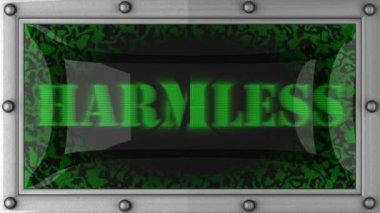 Harmless on led — Stock Video