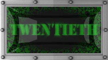 Twentieth on led — Stock Video