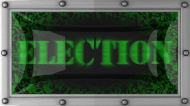 Election on led — Stock Video