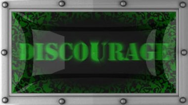Discourage on led — Stock Video