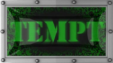 Tempt on led — Stock Video