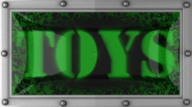 Toys on led — Stock Video