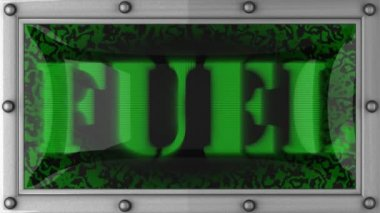 Fuel on led — Stock Video