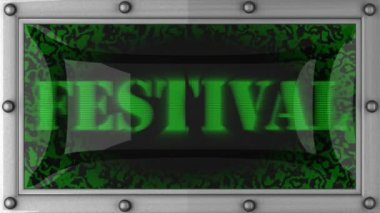 Festival on led — Stock Video