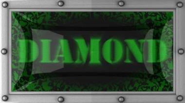 Diamond on led — Stock Video