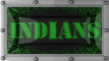 Indianie na led — Wideo stockowe