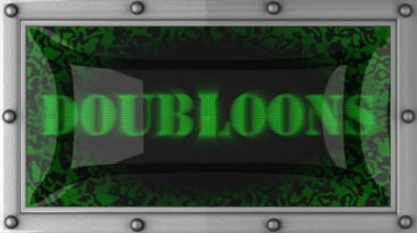 Doubloons on led — Stock Video