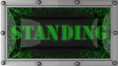 Standing on led — Stock Video