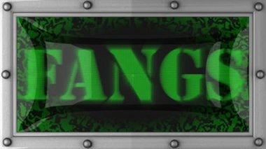Fangs on led — Stock Video
