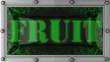 Fruit on led — Stock Video