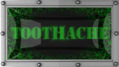 Toothache on led — Stock Video