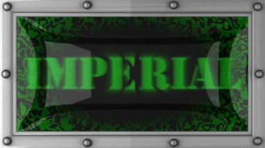 Imperial on led — Stock Video