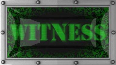 Testemunha em led — Vídeo Stock