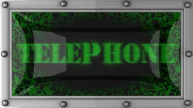 Telephone on led — Video Stock