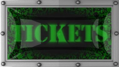 Tickets on led — Stock Video