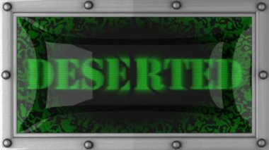 Deserted on led — Stock Video