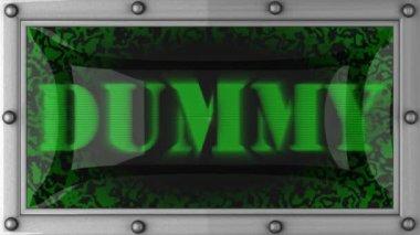 Dummy op geleid — Stockvideo