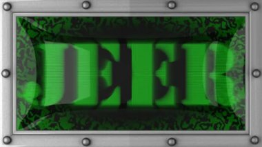 Jeer on led — Stock Video