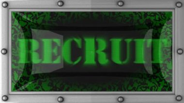 Recruit on led — Stok video