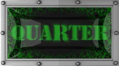Quarter on led — Stock Video