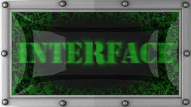Interface em led — Vídeo stock