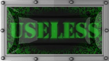 Useless on led — Stock Video