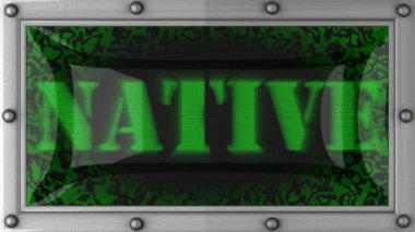 Native on led — Stockvideo