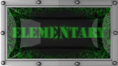 Elementary on led — Vídeo Stock