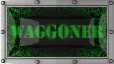 Waggoner on led — Stock Video