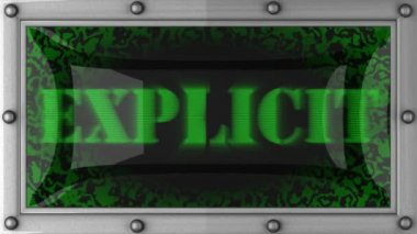Explicit on led — Stock Video