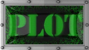 Plot on led — Stock Video