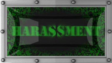 Harassment on led — Wideo stockowe