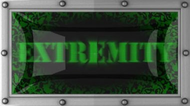 Extremity on led — Stok video