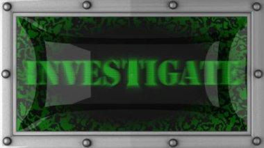 Investigate on led — Stock Video