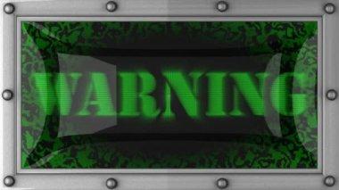 предупреждение привело — Стоковое видео
