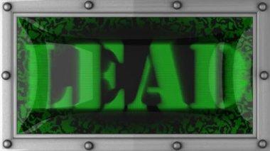 Lead on led — Stock Video