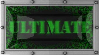 Ultimate em led — Vídeo Stock