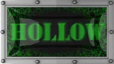 Hollow on led — Stockvideo