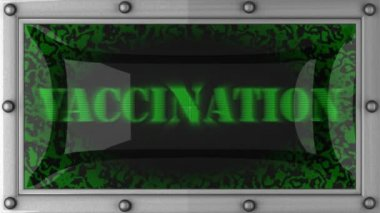 Vaccination on led — Stockvideo