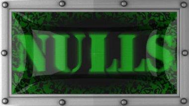 Wartości null na led — Wideo stockowe
