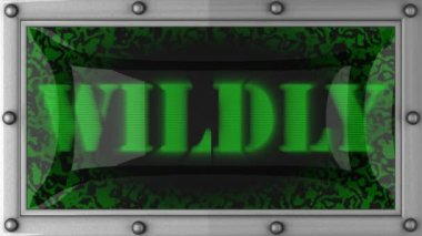 Wildly on led — Stock Video
