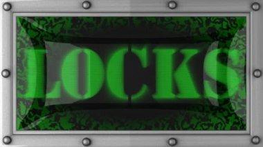 Locks on led — Stock Video