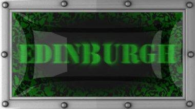 Edinburgh on led — Stock Video