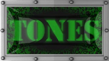 Tones on led — Stock Video