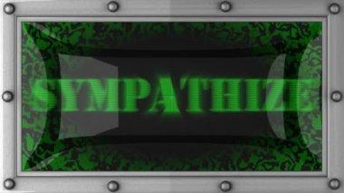 Sympathize on led — Stock Video