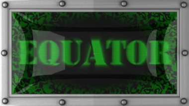 Equator on led — Stock Video