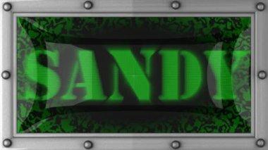 Sandy on led — Stock Video