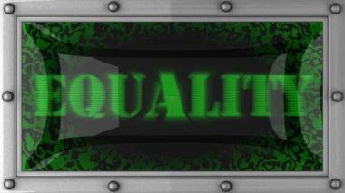 Igualdade na levou — Vídeo Stock