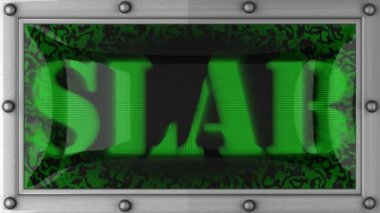 Slab on led — Stock Video