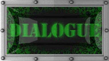 Dialogue on led — Wideo stockowe